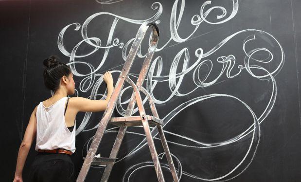 Fail Better Chalk Mural, 2012