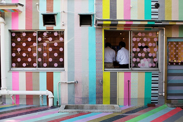 / Amanda Goode: Houses, Polka Dots, Mt Tape, Mt Expo, Places Ss, Mtexpo, Design Restaurant Colors, Masks Tape, Washi Tape