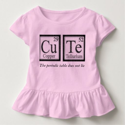Cute Periodic Table Tee Shirts