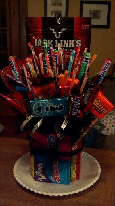 candy bouquet i made for my daughter for her 17th birthday