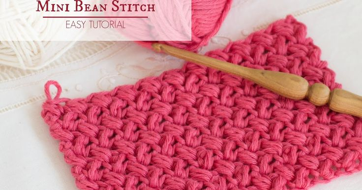 Today I discovered the Bean Stitch, and I'm so excited by it and it's crochet prospects that I've spent the past hour fiddling around with it, until I came up with the mini version of this quirky stitch, which I've fondly named the Mini Bean Stitch!