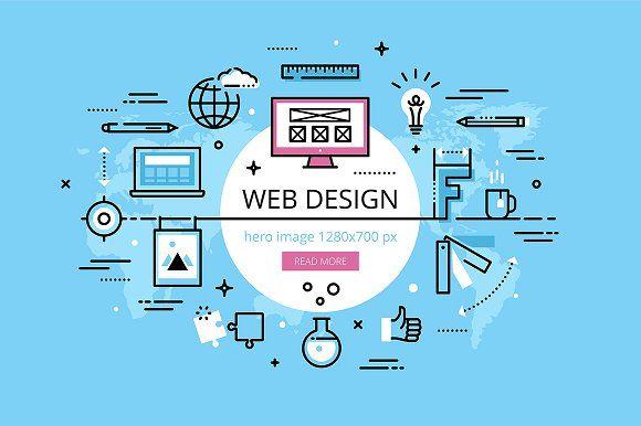 Web Design Hero Banners Set Web Design Fun Website Design Website Design Company