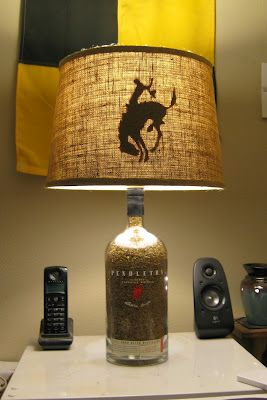 lamp crafts things to do pinterest lamps bottle lamps and. Black Bedroom Furniture Sets. Home Design Ideas