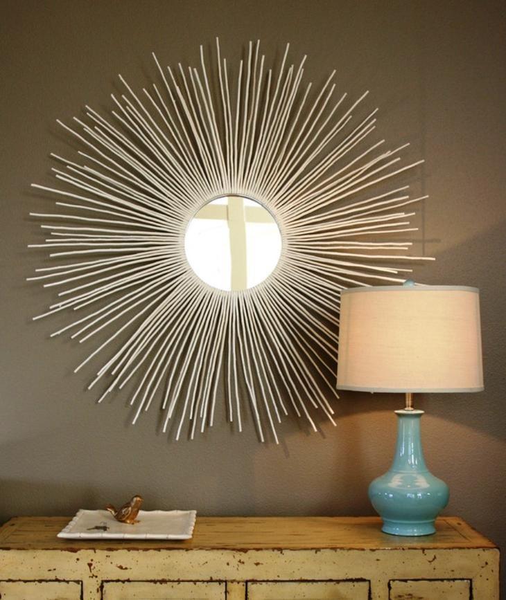 декорированное зеркало в интерьере