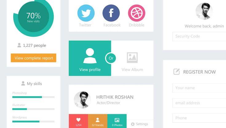 I really love flat UI  Flat Design UI Kit - Free Download | Webdesigner Depot