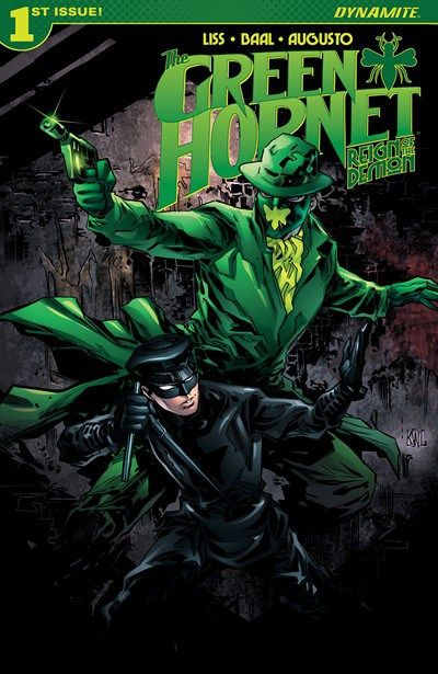 NEW SERIE !!! The Green Hornet – Reign of the Demon n°1 (21.21.2016) // If imitation is the sincerest form of flattery for most people, it could be the deadliest for The Green Hornet and Kato. With their vigilantism tearing apart organized crime, Chicago is visited by two more masked individuals: one claiming to be a friend and the other…their most formidable foe yet!  #green #hornet #dynamite #comics