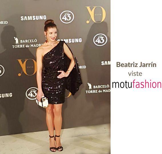 Guapísima Beatriz Jarrín Con vestido Motufashion