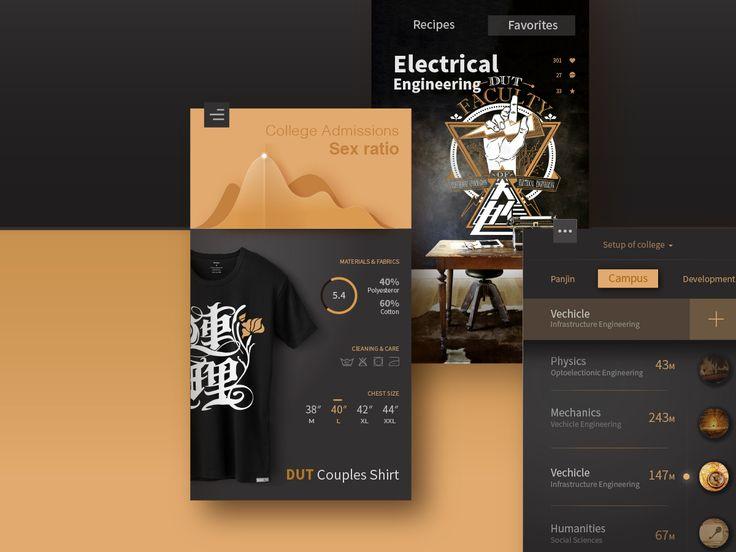 "Popatrz na ten projekt w @Behance: ""Retro Style UI for my college   复古风格大学web&UI概念设计"" https://www.behance.net/gallery/44833701/Retro-Style-UI-for-my-college-web-UI"