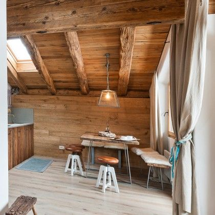 Tetto in legno su muratura portante