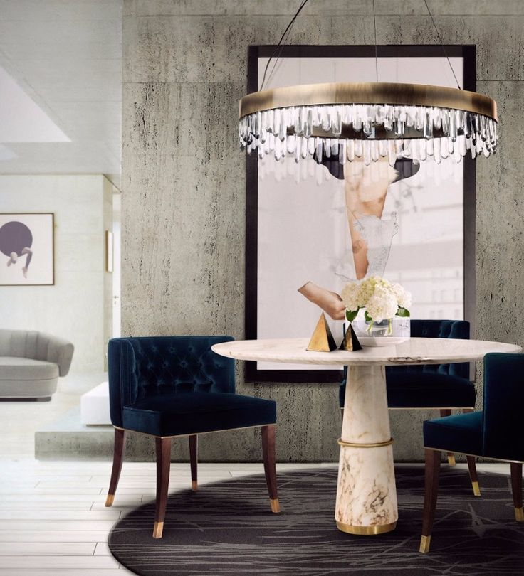 AGRA Dining Table | Dining Room Table. Dining Room Ideas. #diningtable #diningroom #marble Find more: https://www.brabbu.com/product/casegoods/agra-dining-table