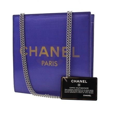 0af388a529c2 Get one of the hottest styles of the season! The Chanel Cc Hologram Chain  Vintage Purple Vinyl Shoulder Bag is a top 10 member favorite on Tradesy.