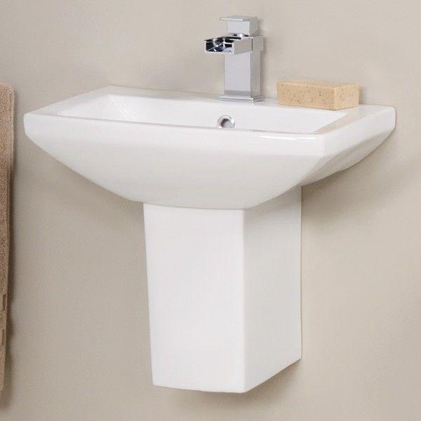 The Tabor Basin And Semi Pedestal A Stylish Square Design 1 Tap Hole With Matching From Range