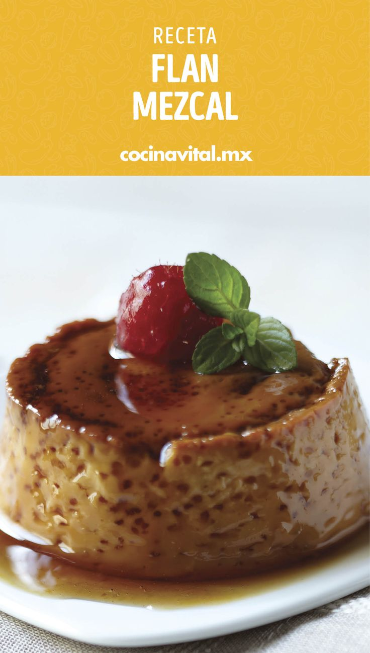 La mejor combinación: flan y mezcal. ¿Qué puede salir mal? Mexico Food, Food Humor, Mexican Food Recipes, Deserts, Pudding, Sweets, Cooking, Healthy, Bath