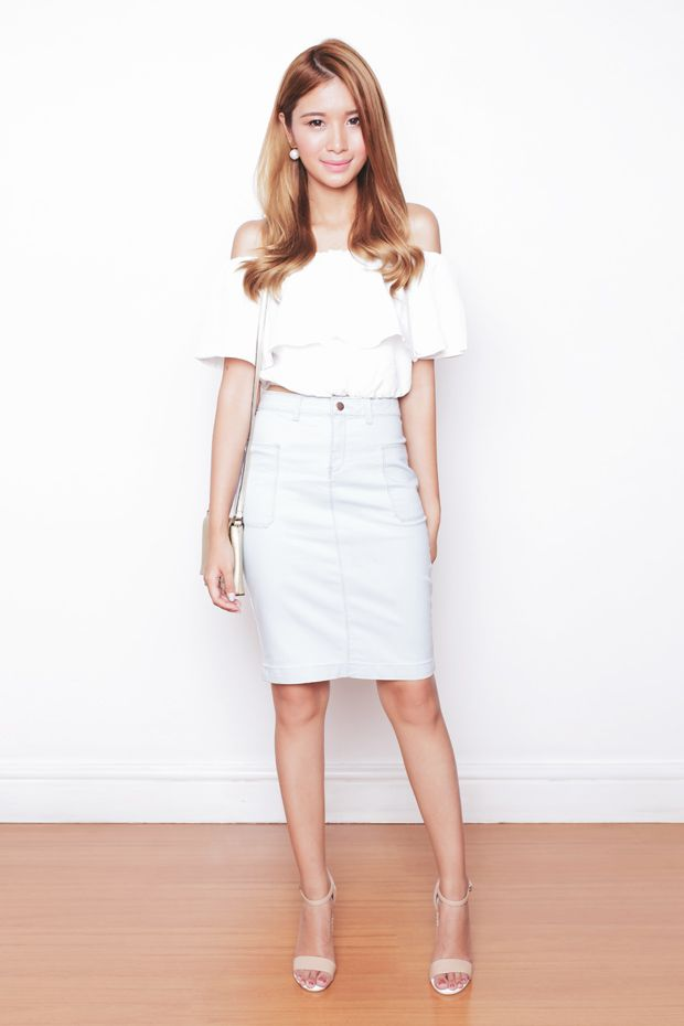 25 best ideas about white pencil skirts on