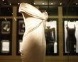 dress worn by princess Diana displayed in Kensington palace which opened today after a 12 million pound sterling (19 mil US) renovation in central London 3-20-12