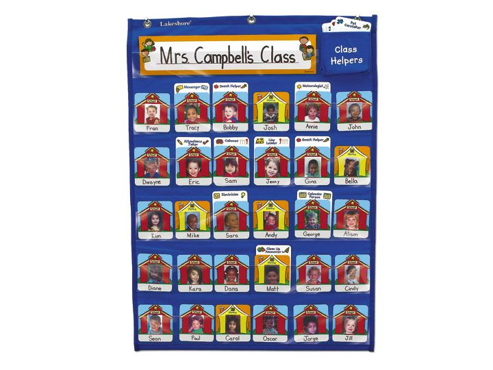 #BackToSchool //  Daily Attendance  Classroom Helpers Chart at Lakeshore Learning