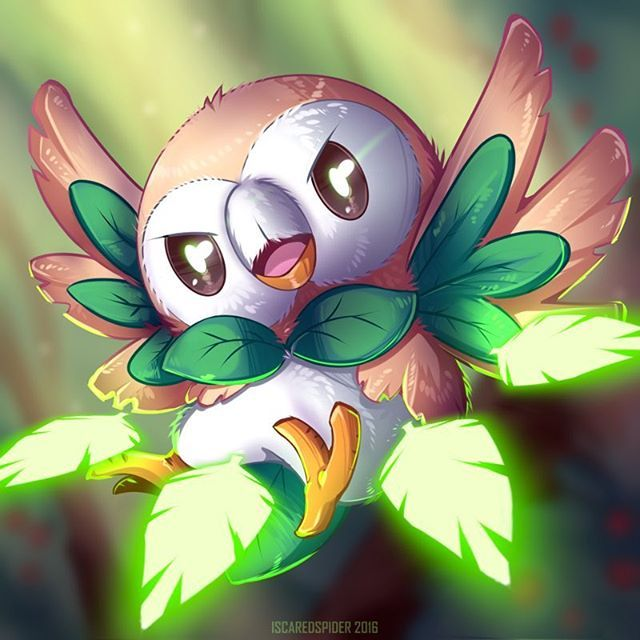 Rowlet pokemon inicial tipo planta séptima generación                                                                                                                                                                                 Más