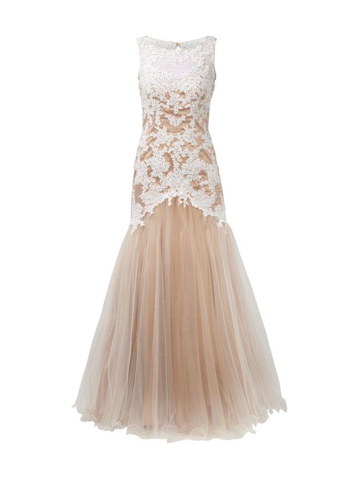 LUXUAR  Luxuar Abendkleid im Meerjungfrauen-Stil - Offwhite