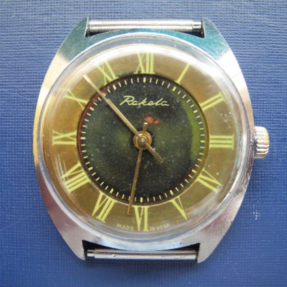 Mens wristwatch from USSR Unique mens watches by vintagelarisa