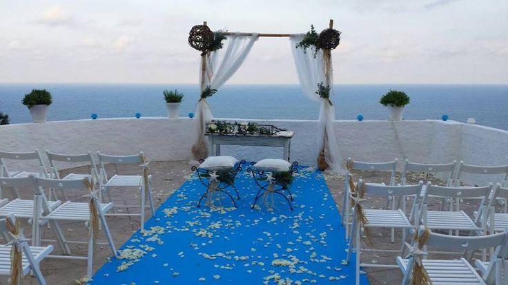 Decoración boda en terraza