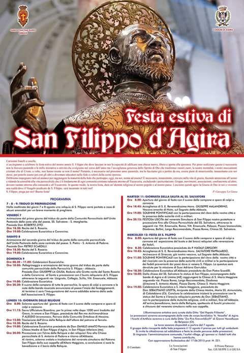 Si replicano ad #Agira i festeggiamenti in onore di San Filippo. #typicalsicily  http://www.typicalsicily.it/events/36/evento-ad-agira-festa-di-san-filippo/…