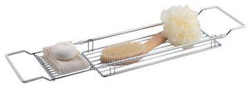 Organize It All Expandable Bathtub Caddy traditional shower caddies  #Luxury #Spa #Robe #Plush #pamper #bath #towels