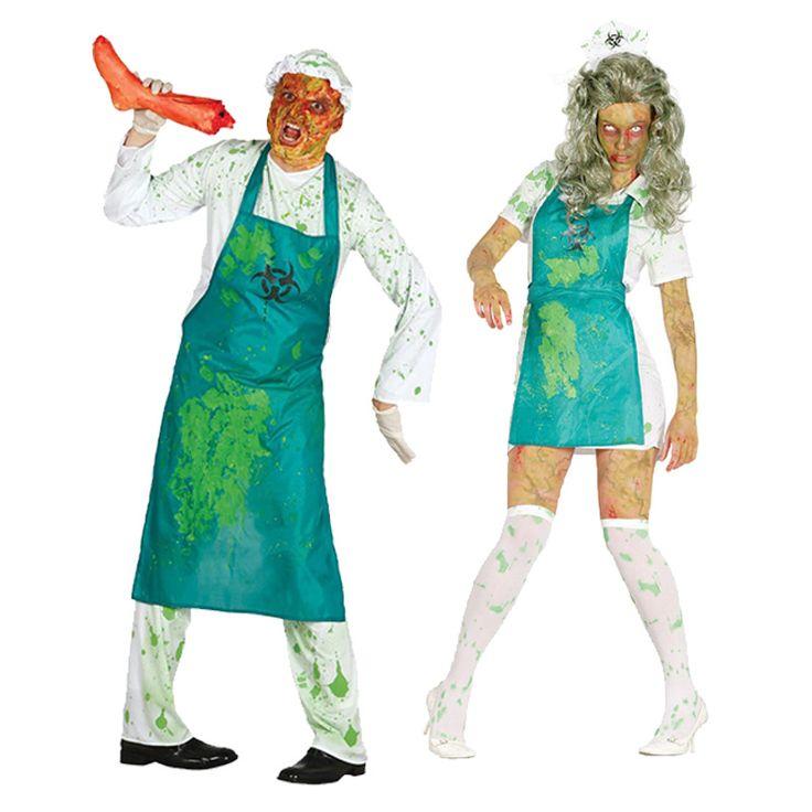 Pareja zombies radioactivos parejas disfraces carnaval - Difraces para carnaval ...