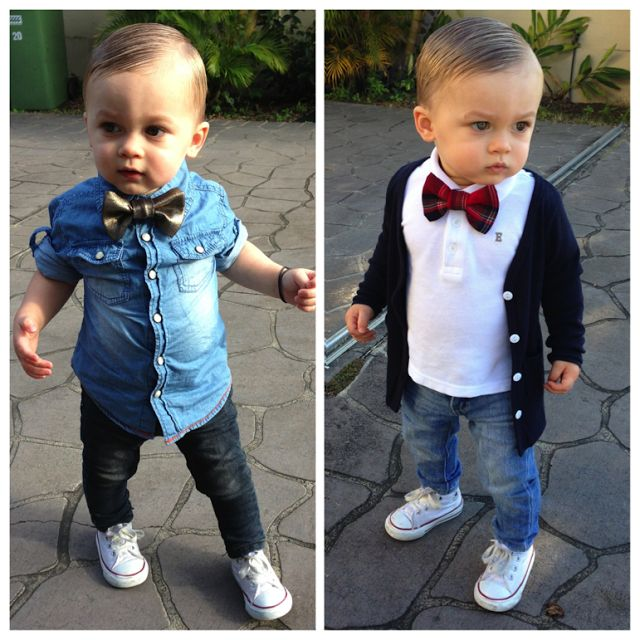 ladies like the bow ties (: awee my kids are gonna be fresh like this