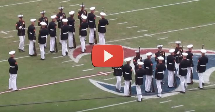 The Silent Drill Team of the United States Marine Corps put on an amazing show at a Patriots game, and patriotic fans were loving every second of it! You can even hear the football fans chant... USA, USA! Watch the VIDEO of this amazing team!  #PresidentTrump #AmericaFirst #AMEXIT #Britain1st #Putin #DrainTheSwamp #OregonFront