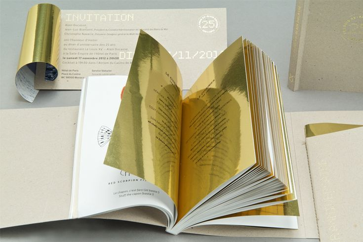 25th anniversaty of Alain Ducasse's Louis XIV by Soins Graphiques #gold #edition #book