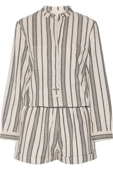 Vanessa Bruno - Geza Cotton-jacquard Playsuit - Beige - FR34
