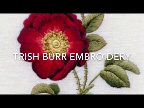 Embroidery: Long & Short Stitch Shading Part Two by Trish Burr - YouTube