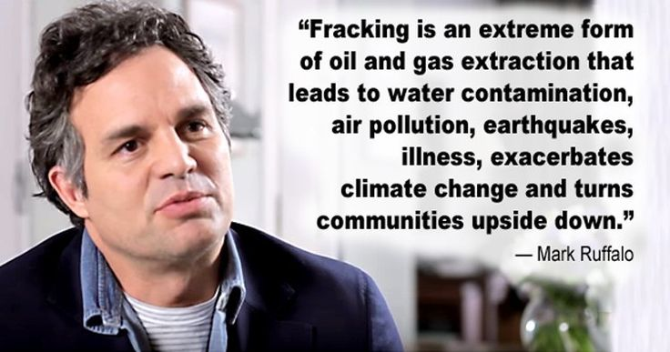 "Mark Ruffalo: There's No Fracking That Can Be Done Safely | EcoWatch | ""Fracking is an extreme form of oil and gas extraction that leads to water contamination, air pollution, earthquakes, illness, exacerbates climate change and turns communities upside down."" Click to read and share the full article with video (1:27)."