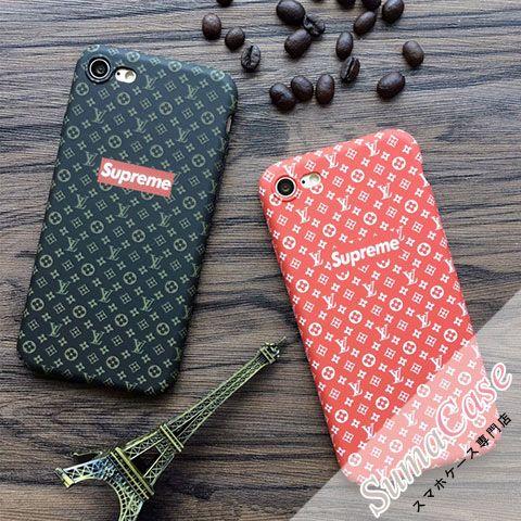 LOUIS VUITTON(ルイヴィトン)ブランド Supreme × Louis Vuitton シュプリーム コラボ モノグラム総柄 ストリート系 カバー型 PCハードケース for iPhone8/7S/7/6S/6/Plus
