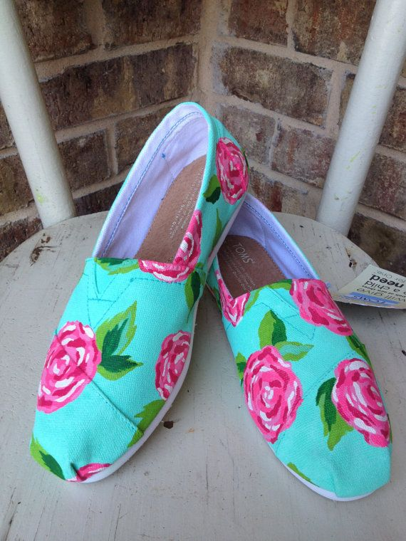 Lilly Pulitzer Roses TOMS by brushandbow on Etsy, $105.00