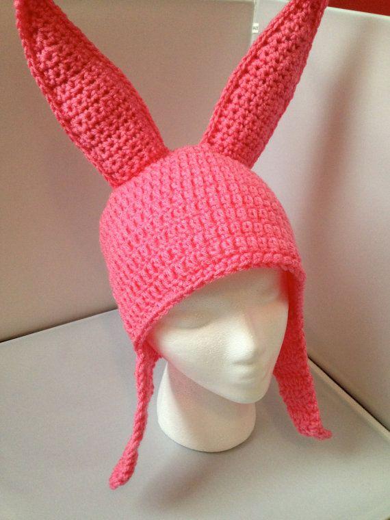 Louise Belcher (Bob's Burgers) crochet hat pattern on Etsy