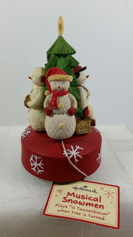 NEW Hallmark Christmas Music Box musical Snowman plays O Tannenbaum NWT GIFTABLE #Hallmark