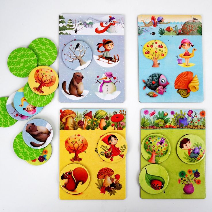 Toddler 4 Seasons Loto Game by Djeco for Age 2+   Little Goat Gruff