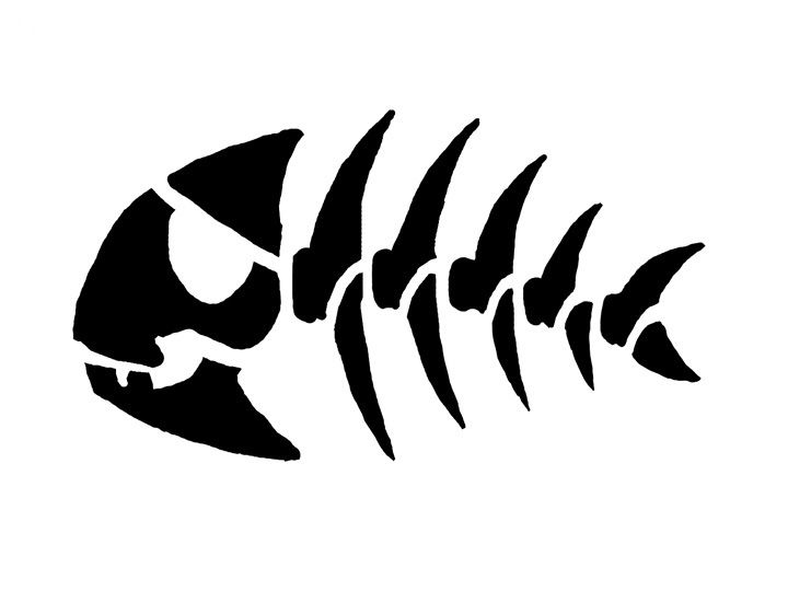 Fishbone Stencil Template To Sort Art Pinterest Search - 720x540 ... Zombie Pumpkin Pattern