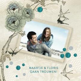Wedding invitation by Dutch design studio 'Pimpelmees paper goods'.