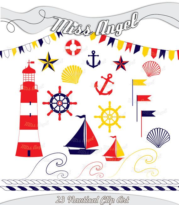 Nautical Clipart. Nautical Digital scrapbook by MissAngelClipArt, $4.59