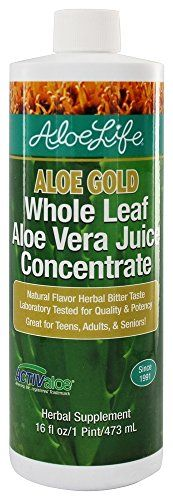 Whole Leaf Aloe Vera Juice Concentrate-Aloe Gold - 16 oz - Liquid - http://alternative-health.kindle-free-books.com/whole-leaf-aloe-vera-juice-concentrate-aloe-gold-16-oz-liquid/