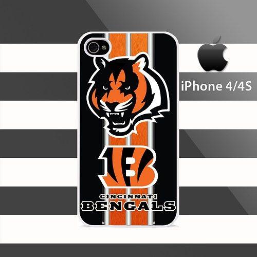 Cincinnati Bengals texture Stripes iphone 4 4s Rubber Case Cover
