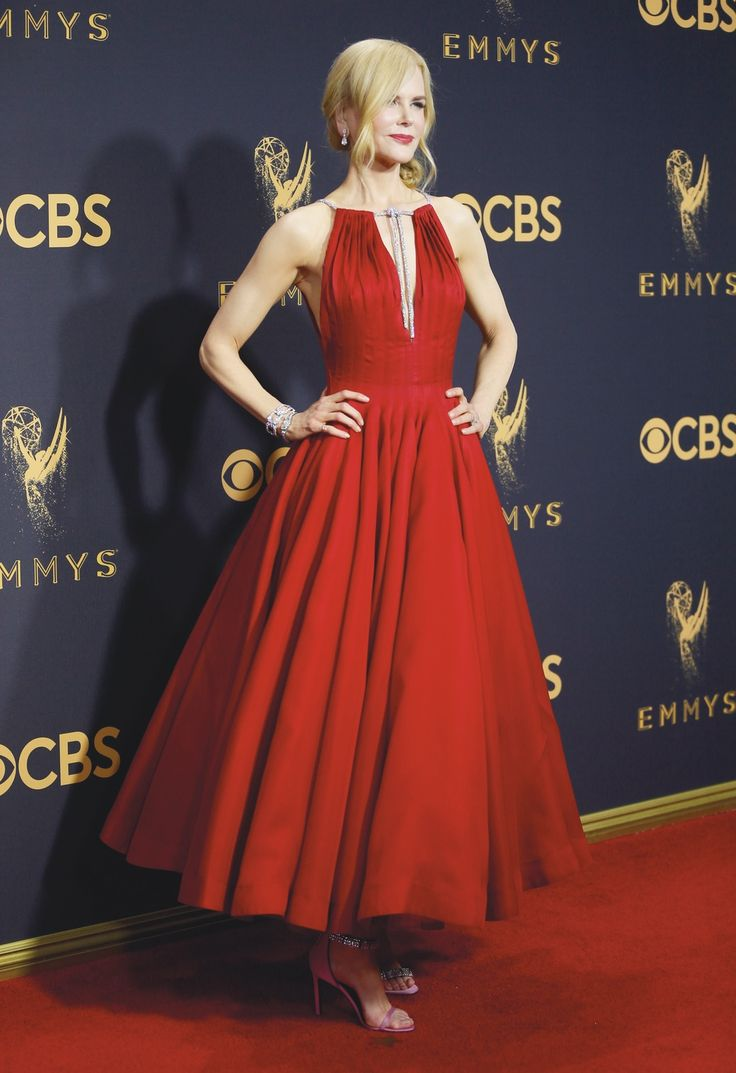 "LOS ANGELES, CA - SEPT 17, 2017: Nicole Kidman arrives at the 69th Primetime Emmy Awards on Sunday, Sept. 17, 2017, at the Microsoft Theater in Los Angeles. (Photo by Danny Moloshok/Invision for the Television Academy/AP Images) | VIE Magazine - December 2017 | The Sophisticate Issue | ""La Scene: Where It's At"" 