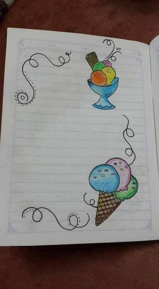 Pin By Karina On Screenshots Colorful Borders Design Page Borders Design Handmade Diary