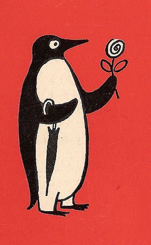 Detail from the back cover of The Lovers by Raymond Peynet, 1962.