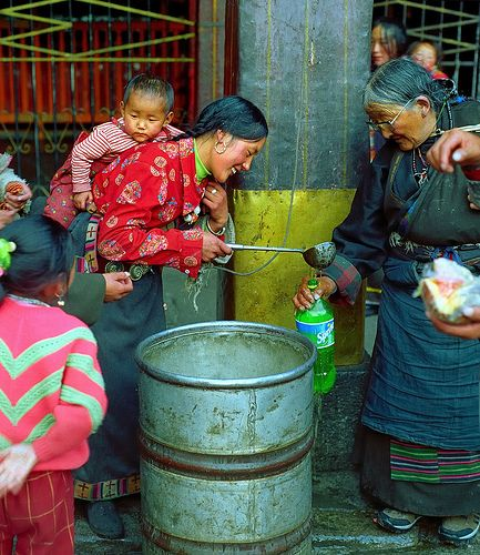 Distributing Water . Tibet