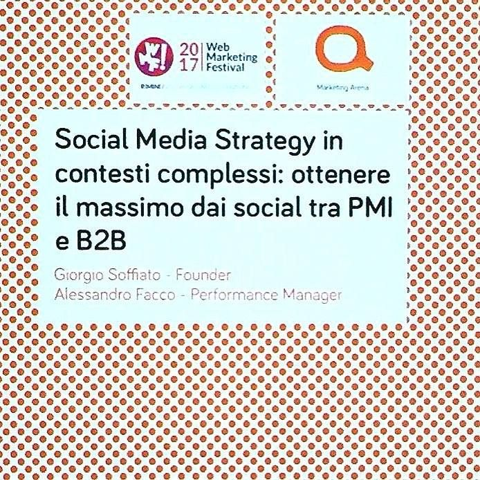 Al Web Marketing Festival per approfondire le nostre conoscenze in social media marketing #wmf17 #socialmediamarketing #zarricomunicazione