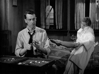 Dames, guns and oppressive, seedy hotel rooms were staples of Film Noir. Here, John Dahl and Peggy Cummins in Gun Crazy, 1950.