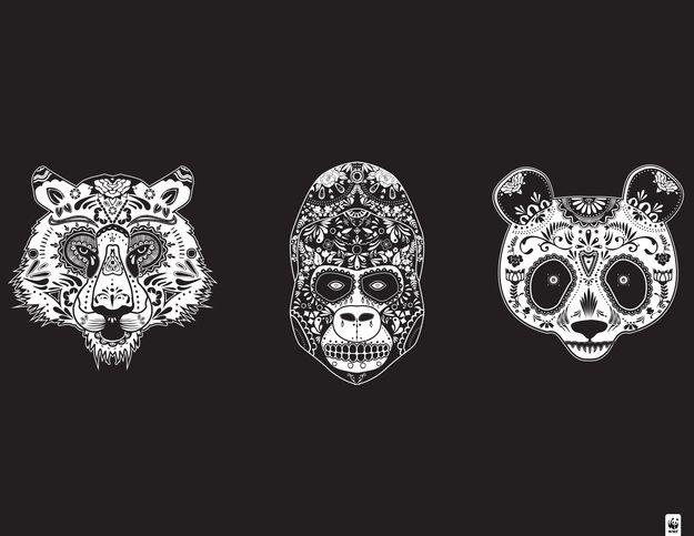 Animal sugar skull tattoo - photo#37